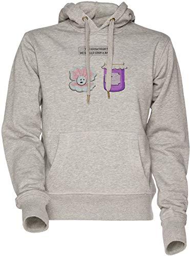 Pearl and Jam Start a Band Unisex Herren Damen Kapuzenpullover Sweatshirt Grau Men's Women's Hoodie Grey -