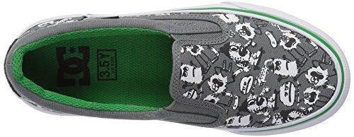DC Low Top Chaussures S Trasé Slip-On de garçon Grey/Green
