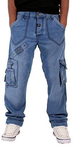 peviani-mens-boys-waterloo-true-star-blue-cargo-combat-denim-jeans-time-is-g-religion-hip-hop-w36-l3