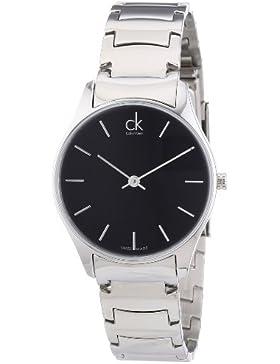 Calvin Klein Damen-Armbanduhr XS ck classic Analog Quarz Edelstahl K4D22141