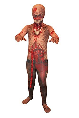 Explodierende Eingeweide Zombie Kinder Monster Morphsuit Faschingskostüm - size Large 4'1-4'6 (Morph Anzug Kinder)