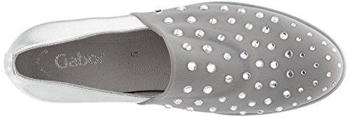 Gabor Shoes Fashion, Mocassini Donna Grigio (grau/ice 49)