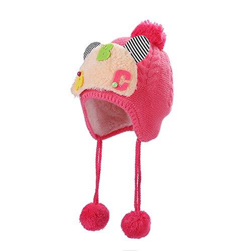 Odjoy-fan-con diamante piccolo fiore bambino più velluto cachemire earmuffs-cappello di beanie del bowknot dell'orecchio coniglio neonato inverno