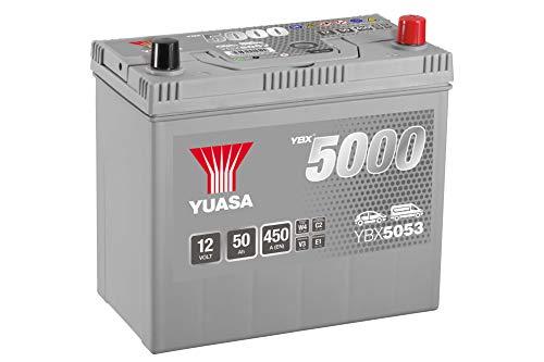 Yuasa, YBX5053, batteria di avviamento ad alte prestazioni, color argento
