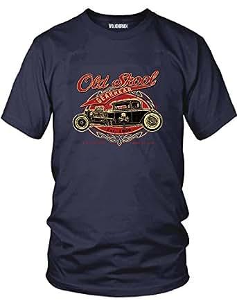 T-Shirt Old Skool Hot Rod, navy Gr.3XL