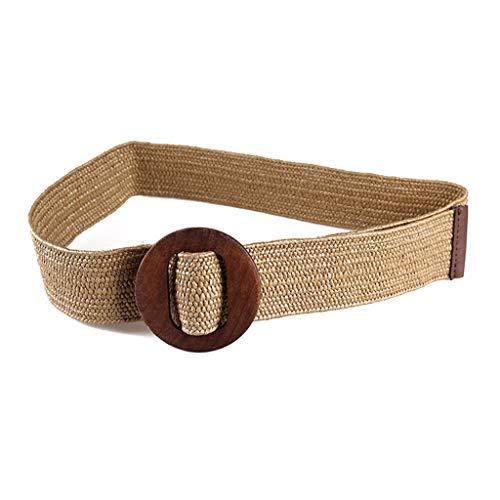 ZOUCY Cinturones Trenzados de Estilo Vintage para Mujer Hebilla de Mad