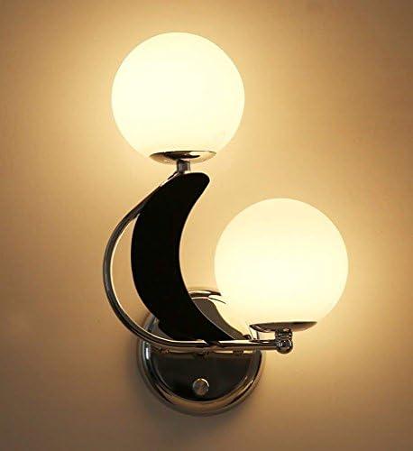 HAIZHEN Lampada da parete moderna Camera da Letto semplice testa a doppia testa semplice lampada sul comodino (Coloreee   nero-Left) 54c031