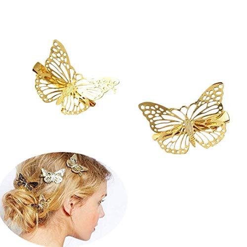 chytaii Haarspangen Clip Faszinator Haar DESEÑO Schmetterling-Paket von 2