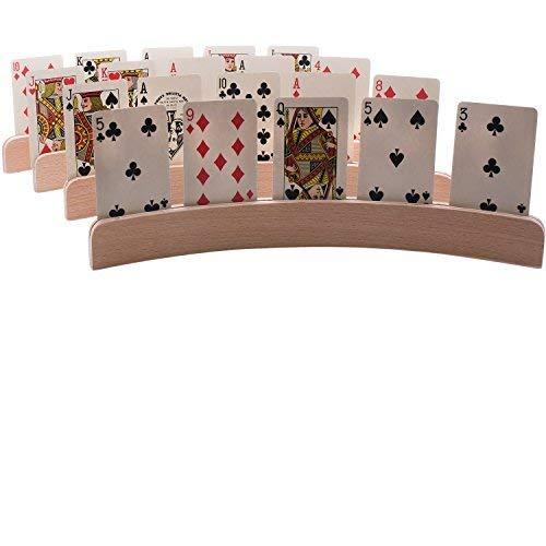 Set 4de madera soportes juego cartas diseño curvo-14