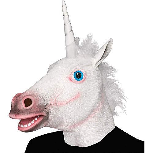 Einhorn Maske, Deluxe Neuheit Halloween Kostüm Party Latex Tierkopf Maske Einhorn Kopf Maske (Awesome Kostüm Für Hunde)