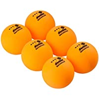 Donier 3 Star Table Tennis Balls 6 Ping Pong Balls, Official 40mm Size | Use for Indoor, Outdoor Table Tennis | Competition Ping Pong Ball Set for ITTF Games | Orange, White