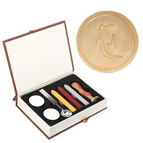 Oulensy 1Pc Antico Piante Metallo Ceralacca Bollo della Guarnizione di Nozze Fai da Te inviti Decorazione Antica Wax Craft Stamp