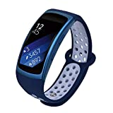 VIGOSS Compatibile Gear Fit 2 Cinghia da Polso/Fit 2 PRO, Morbido Silicone Watch Band Wristband Fitness Sport Cinturino di Ricambio per Samsung Gear Fit 2 PRO sm-r365 & Fit 2 sm-r360 Smartwatch