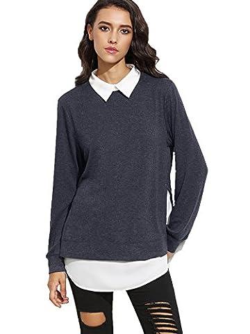 ROMWE Sweat-shirt Pull et gilet femme manches longues 2 en