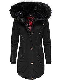 Marikoo Larissa Damen Winter Jacke Stepp Mantel Parka Winterjacke warm  gefüttert XS - XXL 7f8f9cd94e