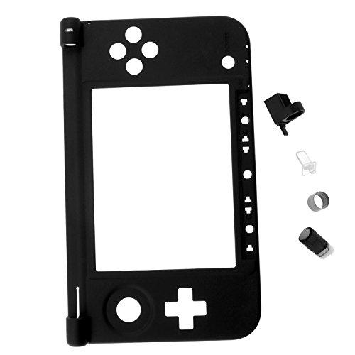 Gehäuse Ersatz Unterteil Innenteil schwarz für Nintendo 3DS XL + Scharnier Teile -