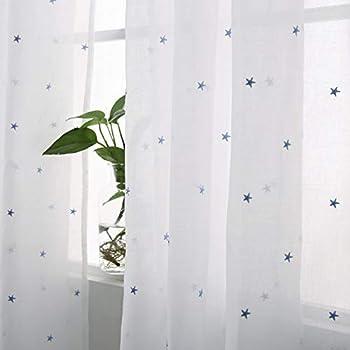 naturer vorhang transparent kr uselband blau. Black Bedroom Furniture Sets. Home Design Ideas