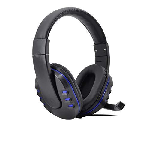 MAMaiuh Gaming-Headset für PS4, PS4 Pro, PC, Slim Controller, 3,5 mm Over-Ear-Kopfhörer mit Mikrofon für Nintendo Switch, 3DS, PSP, Laptop, Computer, Tablet, iPad, Handy, schwarz