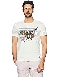 Arrow Jeans Men's Printed Regular Fit T-Shirt