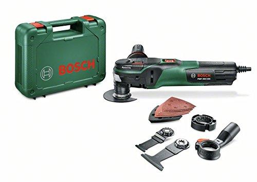 Bosch Outil multifonction PMF 350 CES, 350W, fonction Autoclic, faisceau 360°, poignée antivibration, accessoires, interface Starlock et StarlockPlus 0603102200
