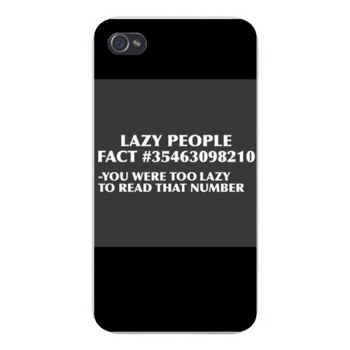 apple-iphone-custom-case-4-4s-snap-on-lazy-people-fact-funny-humor