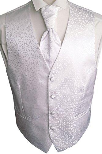 Beytnur Hochzeitsweste mit Plastron, Einstecktuch u. Krawatte Nr. 30.1, Größe 50