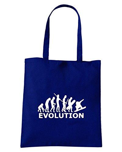 T-Shirtshock - Borsa Shopping EVO0052 Snowboard Evolution Maglietta Blu Navy