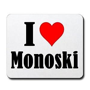 Gaming Mauspad I Love Monoski in Weiss, eine tolle Geschenkidee die von...