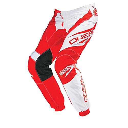 Preisvergleich Produktbild O'Neal Element MX Hose RACEWEAR Rot Weiß Motocross Enduro Cross Motorrad Downhill, 0124R-3, Größe 34/50
