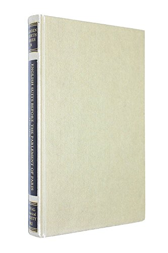 English Suits Before the Parlement of Paris 1420-36 (Camden Society S.) by C.T. Allmand (Editor), C.A.J. Armstrong (Editor) (1-Jun-1982) Hardcover