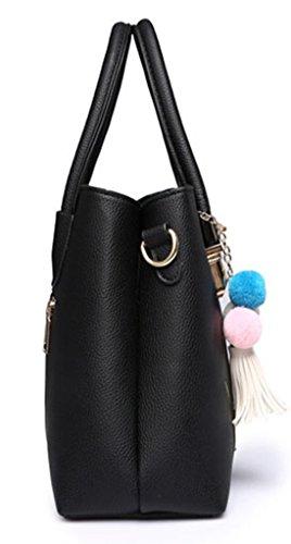 Maibaoma Pu neuer Stil Damen Handtaschen, Hobo-Bags, Schultertaschen, Beutel, Beuteltaschen, Trend-Bags, Velours, Veloursleder, Wildleder, Tasche Pink