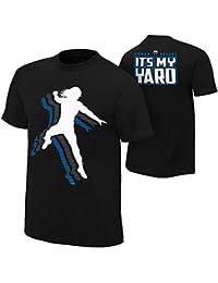 Brandsoon Men's WWE Cotton Round Neck Black Ruber Print M Size T-shirt( Roman Reigns Print)