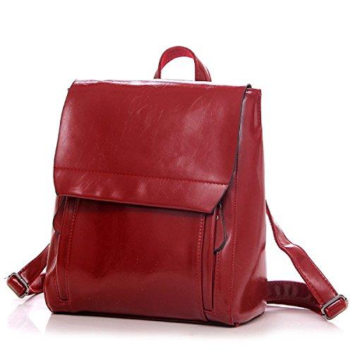Grande Capacità La Signora Della Moda Zaino Cuoio Multicolore Red