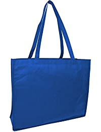 Reusable Eco Friendly Recyclable Non Woven Large Grocery Shopping Carry-All Tote Bags Beach Art Craft School Outdoor...