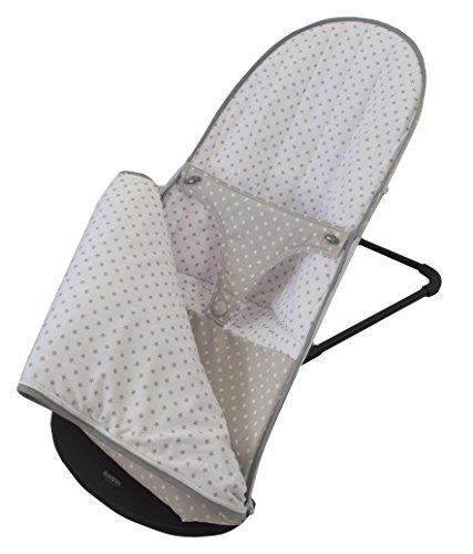 Funda y saco para hamaca babybjörn balance soft (sustituye tapicería original). Estrella gris