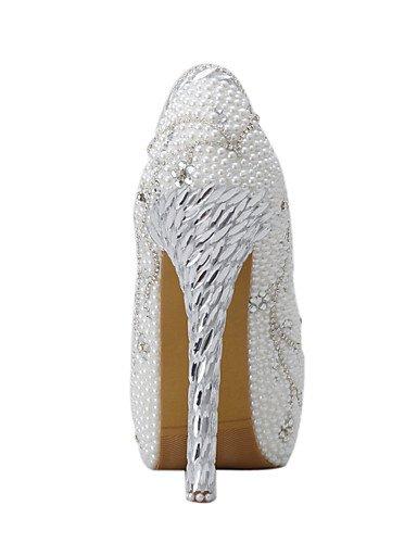 WSS 2016 Chaussures de mariage-Blanc-Mariage / Habillé / Soirée & Evénement-Talons-Talons-Homme 5in & over-us5.5 / eu36 / uk3.5 / cn35