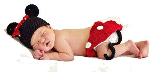 Malloom® 3pcs Mädchen Infant Baby Hut + Rock + Schuhe häkeln stricken Foto Prop