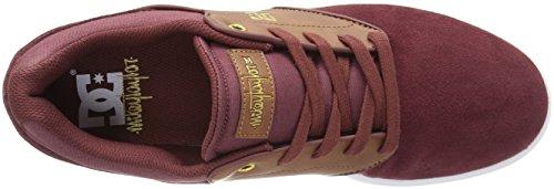 DC Men's Mikey Taylor Skate Shoe, Black/Gum, 10.5 M US Burgundy