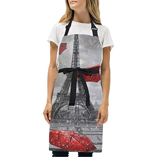 Wamika Eiffel Tower - Delantal Ajustable Cocina, Barbacoa