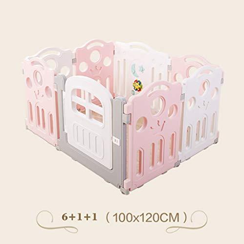 Laufgitter, Baby Laufstall, 8-16Pcs, einschließlich Fun Activity Panel, geeignet für 1-8 Jahre - Babyzaun - stark und haltbar, aus hochwertigen, nicht toxischen Materialien hergestellt (größe : A)