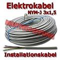 NYM-J Kabel 3 x 1,5 mm² 100m grau von diverse - Lampenhans.de