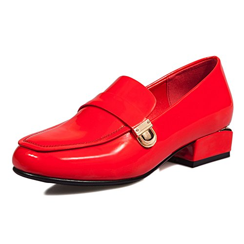 Spring Chaussures pour femmes/Tête ronde à pieds avec des chaussures/chaussures casual de style coréen d'Angleterre A
