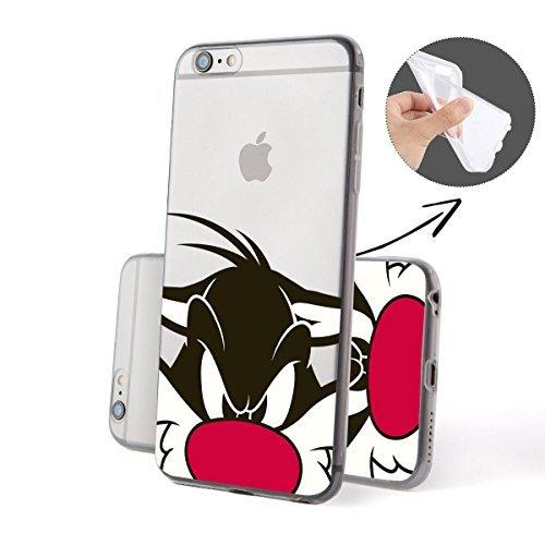silicone-looney-tunes-close-up-serie-iphone-fba-silvestro-close-up-iphone-6-plus-6s-plus