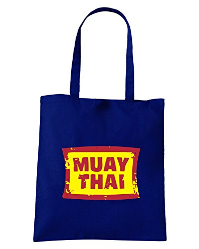 T-Shirtshock - Borsa Shopping TBOXE0056 Muay Thai Blu Navy
