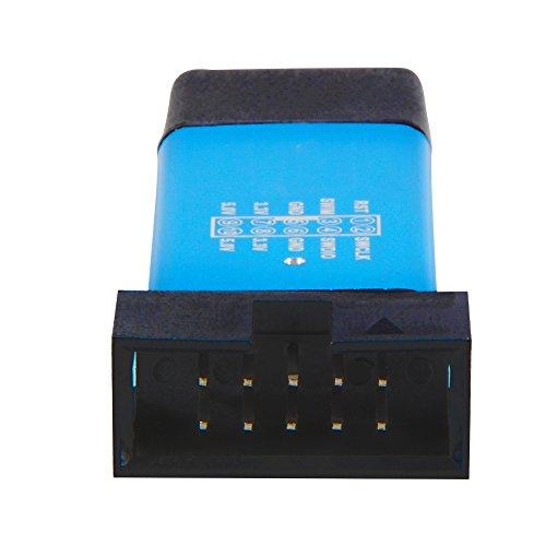 XCSOURCE® Aluminiumlegierung Shell USB Programmierer Einheit Mini STM8 STM32 Emulator Downloader mit Dupont Kabel für ST-LINK V2 TE707 - 3