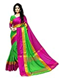 Rivera Women's Cotton Art Silk Designer Printed Saree With blouse Piece Free Size