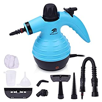MLMLANT Multi-Purpose Handheld Pressurized Steam Cleaner with 9-Piece Accessory Kit for Multi-Surface Stain Removal, Floor Steamer, Window, Counters, Carpets, Curtains, Car Seats, Upholstery