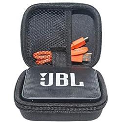 SANVSEN pour JBL GO 2 - Mini Enceinte Bluetooth portable EVA Dur Cas Voyage Etui Housse Sac Case