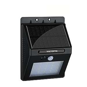 VicTsing 400lm Lampada LED ad Energia Solare, Luci Solari da Esterno con 20 Lampadine LED con Sensore di Movimento per Cortile/ Giardino/ Patio/ Passo Carraio/ Scale/ Fuori Muro ecc, Nero