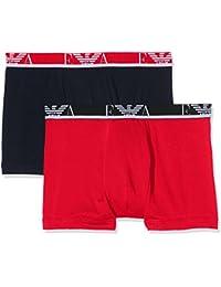Emporio Armani Underwear 1112687P715, Boxer Homme, Multicolore (ROSSO/MARINE), Small